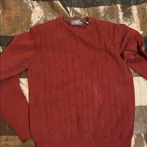 Oscar de la Renta burgundy sweater